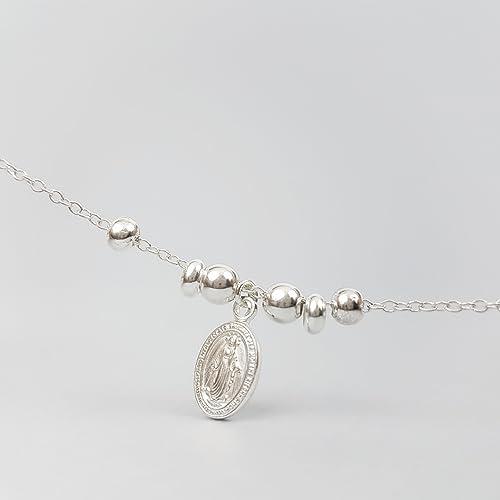 prix compétitif aa6df 509a9 Bracelet communion, bracelet médaille miraculeuse en argent ...