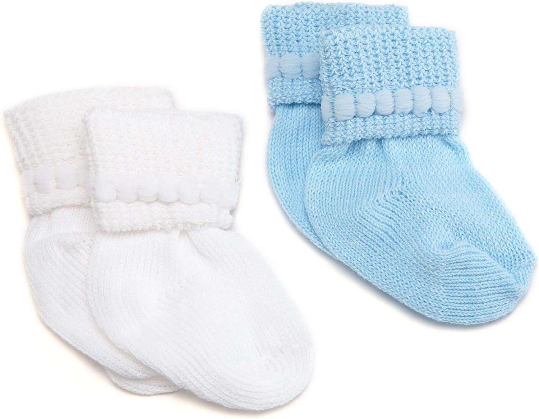 6 Pack Jefferies Socks Rock-A-Bye Bootie White//Blue
