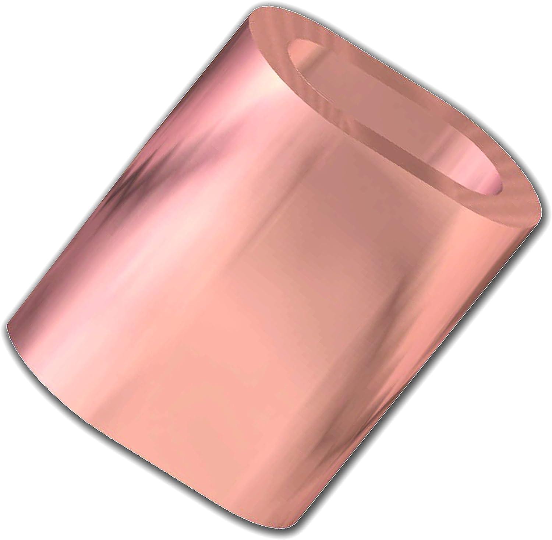 10 St/ück OPIOL QUALITY Seilklemme 1 mm Pressklemmen aus Kupfer Stahlseil Drahtseil Klemme Kupferpressklemmen