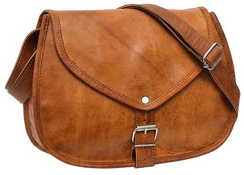Gusti Leder nature quot Charleen quot  Genuine Leather Saddle Handbag  Cross-Body Shoulder City Party 9bd838e0632dc