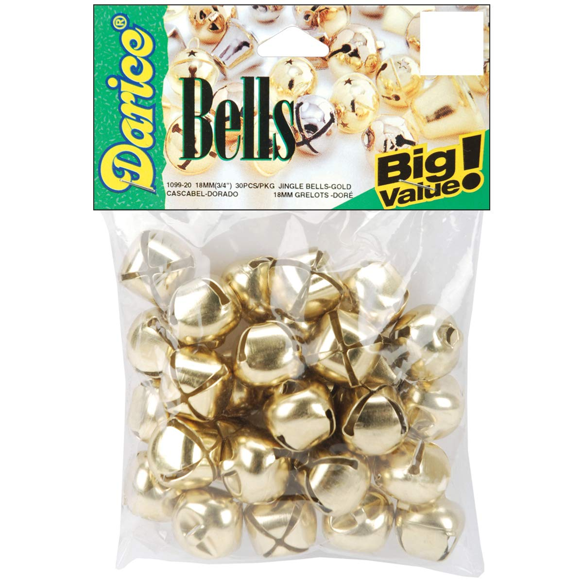 Jingle Bells Gold 0.75 Inch (6 Pack) by Save Dollar Stores (Image #1)