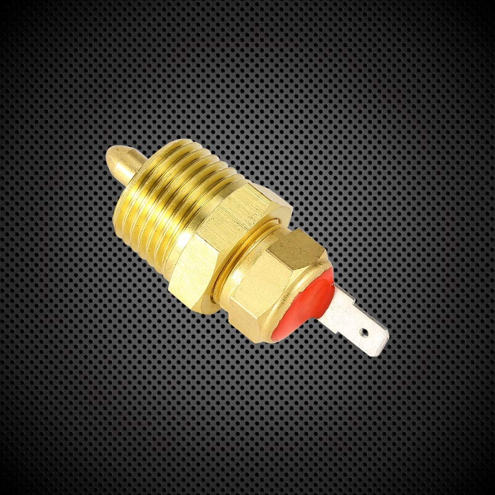 Fan Thermostat Temperature Switch with Hexagonal nut,Gold 185 to 175 Degree Electric Engine 3//8 inch Cooling Fan Thermostat Switch