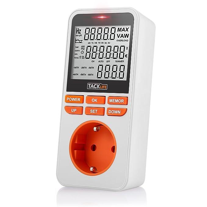 Consumo de energía, Tacklife-MPM02-Medidor de energía ...