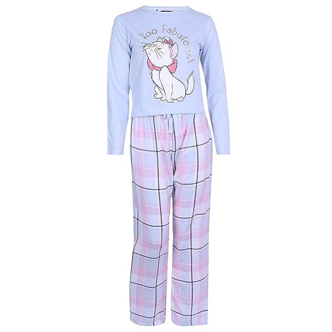 Pijama de Azul Celeste de Cuadros Gata Marie Disney: Amazon.es: Ropa y accesorios