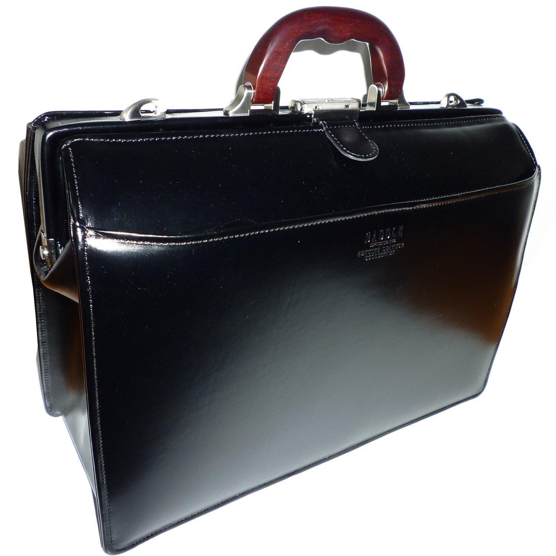 日本製 最強のパフォーマンス! 本革 ビジネスバッグ 全開 大容量 [豊岡製 かばん] 牛革 2WAY 大開き メンズ 機能性 バッグ  ブラック B06X42TBN9