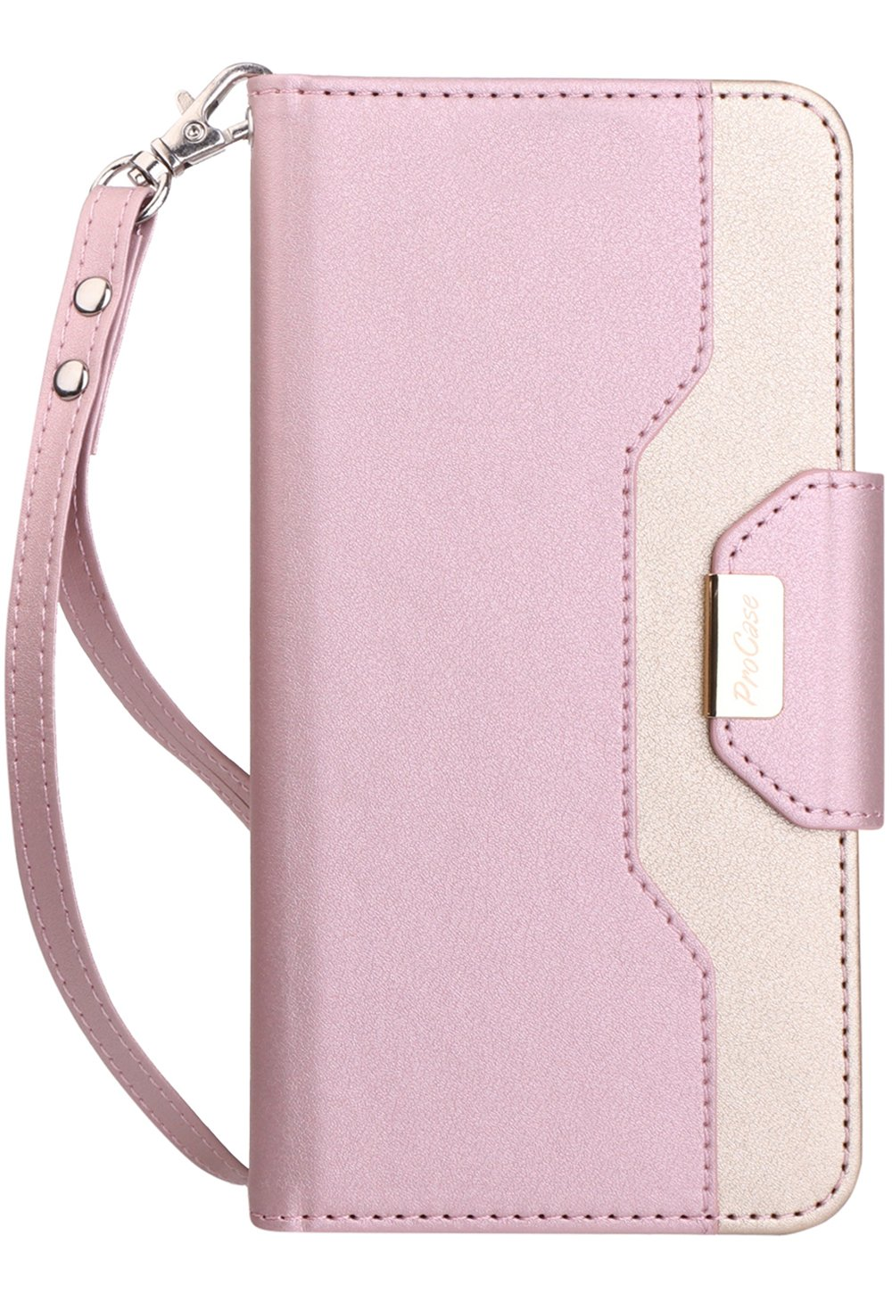 ProCase Google Pixel 3 Wallet Case 2018 Release -MintGreen Flip Kickstand Case with Card Slots Mirror Wristlet Folding Stand Protective Cover for Google Pixel 3