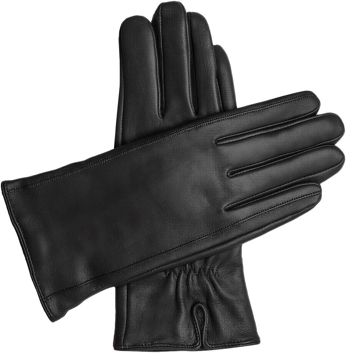 Downholme Vegan Leather Gloves for Women