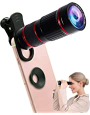 Cell Phone Camera Lens,Universal 18X Clip-On Telephoto Monocular telescope Mobile Zoom lens almost 98% smartphones on the market compatible iPhone Samsung Galaxy Huawei and most Android Smartphone