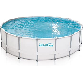 Amazon.com: Summer Waves Elite 16\'x48 Frame Pool with SkimmerPlus ...