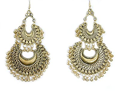 126406bb7 Buy Rubela Fashion Stylish Oxidised Afghani Tribal Fancy Party Wear Earrings  for Girls and Women (Golden) Online at Low Prices in India | Amazon  Jewellery ...
