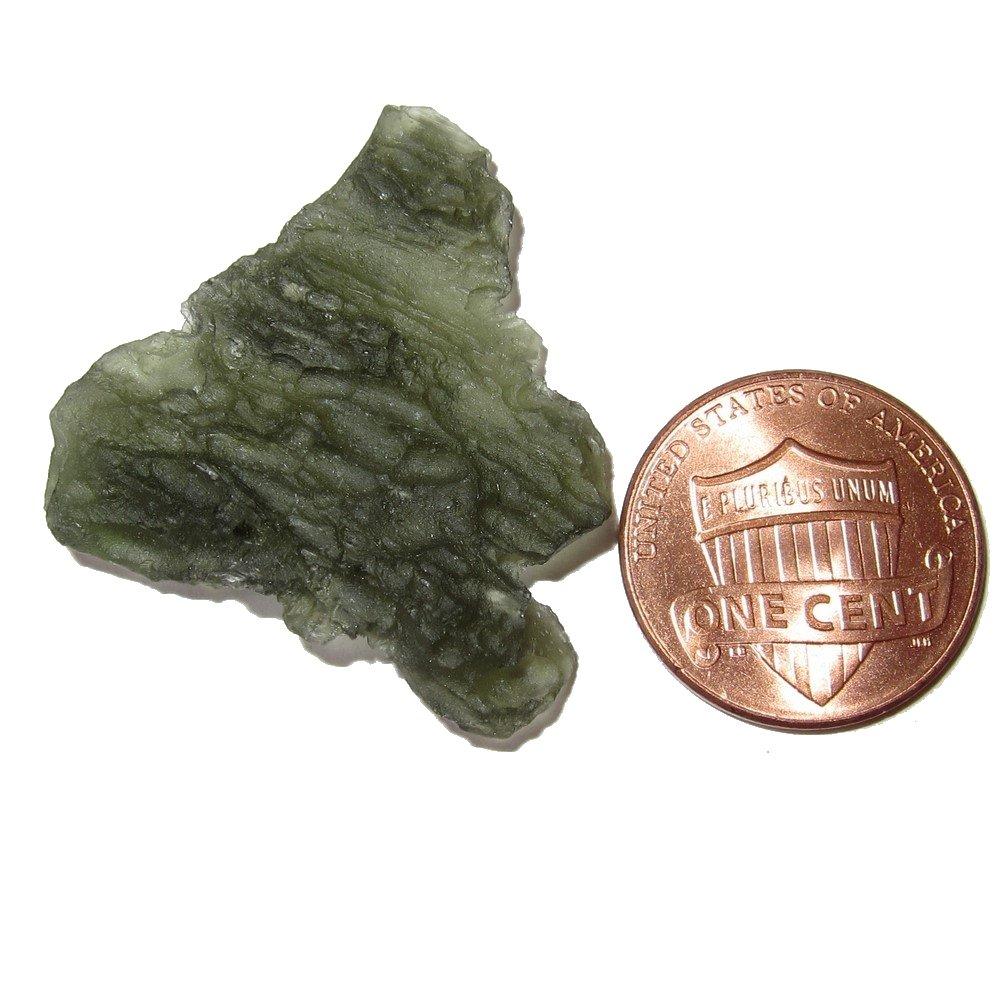 SatinCrystals Meteorite Moldavite Specimen 1.3 Collectible Green Ghost Tektite Triangle Mountain Crystal Meteor Mineral Specimen C52 Satin Crystals meteoritemoldavitespecimen52