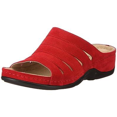 Berkemann Bine Damen Pantoletten, Rot (Rot), 39.5