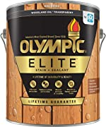 Olympic Stain Elite Wood Stain Woodland Oil Transparent Stain and Sealant