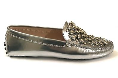 Tods - Mocasines para mujer plateado plata, color plateado, talla Talla De La Marca