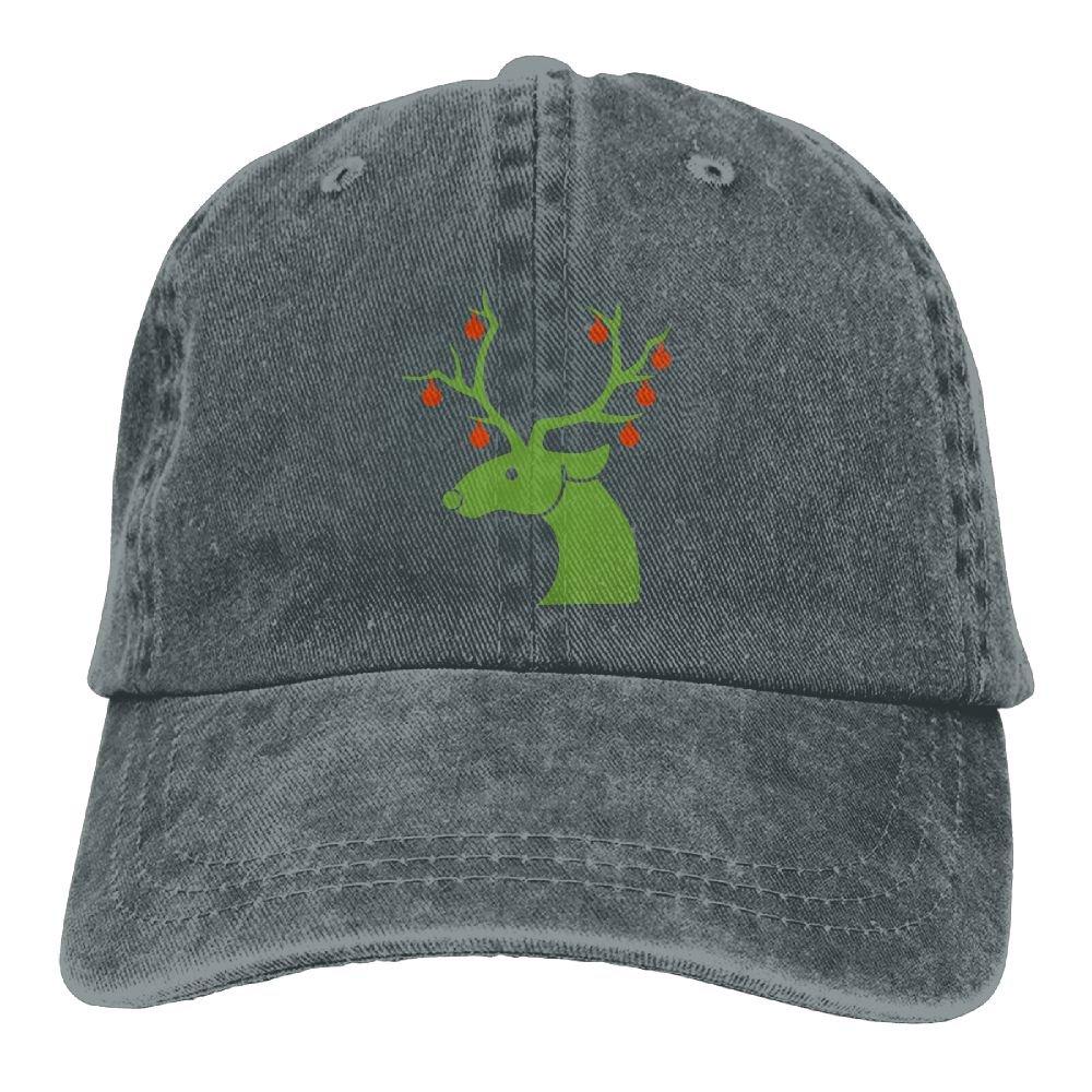 GqutiyulU Christmas Reindeer Adult Cowboy Hat Asphalt