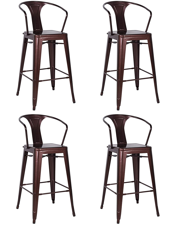 Fine Amazon Com Milan Indigo Galvanized Steel Bar Stool Set Of Machost Co Dining Chair Design Ideas Machostcouk