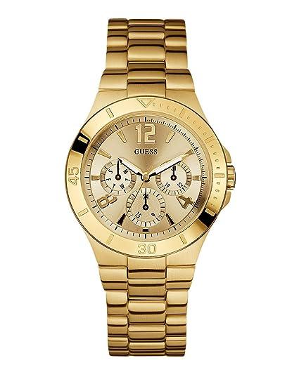 Guess Vespa W13545L1 - Reloj de mujer de cuarzo, correa de acero inoxidable color oro: Amazon.es: Relojes