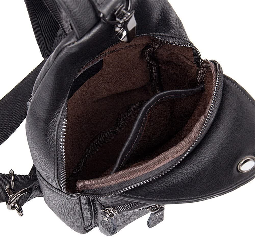 Ybriefbag Outdoor Sports Sling Backpack Leather Chest Bag Crossbody Shoulder Bags Men Sling Bag Crossbody Backpack Women Men