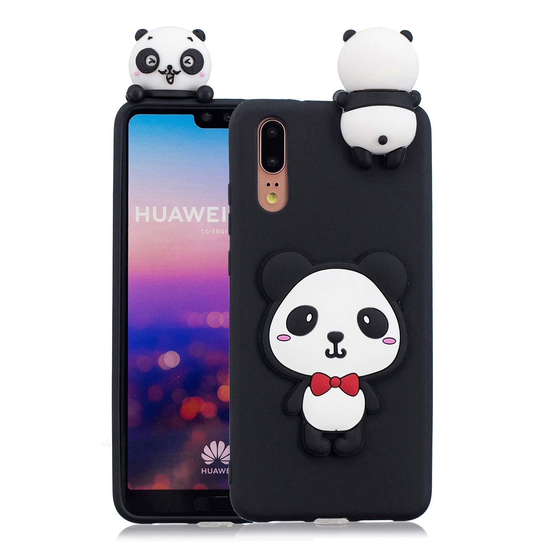 HopMore Compatible pour Coque Huawei Y5 2018 Silicone Souple 3D Design Motif Panda Animal Drôle Mignonne Etui Étui Antichoc Ultra Mince Fine Housse Protection pour Fille Femme - Licorne
