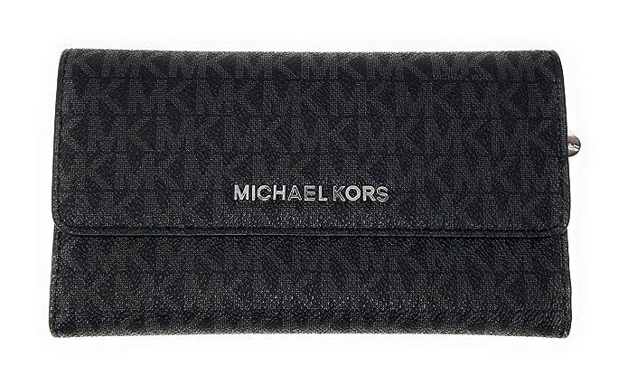 71abac0c6e2d Amazon.com: Michael Kors Women's Jet Set Travel - Large Trifold Wallet:  Clothing