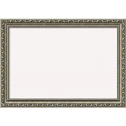 Amazon.com: Amanti Art Framed White Cork Board Parisian Silver ...