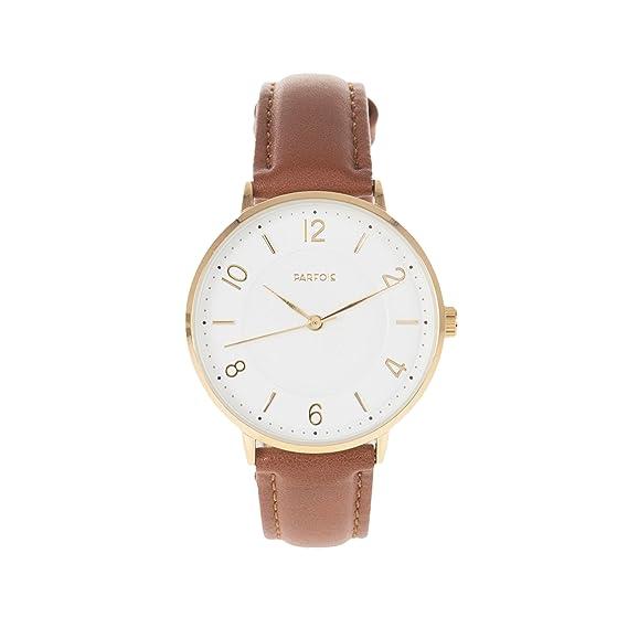 Parfois - Reloj Flat - Mujeres - Tallas M - Marron Claro: Amazon.es: Relojes