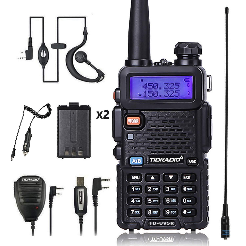 UV5R Radio 5W Ham Radio Upgraded Version of Baofeng UV-5R Radio Rechargeable Two Way Radio Dual Band UHF VHF Radio by TIDRADIO