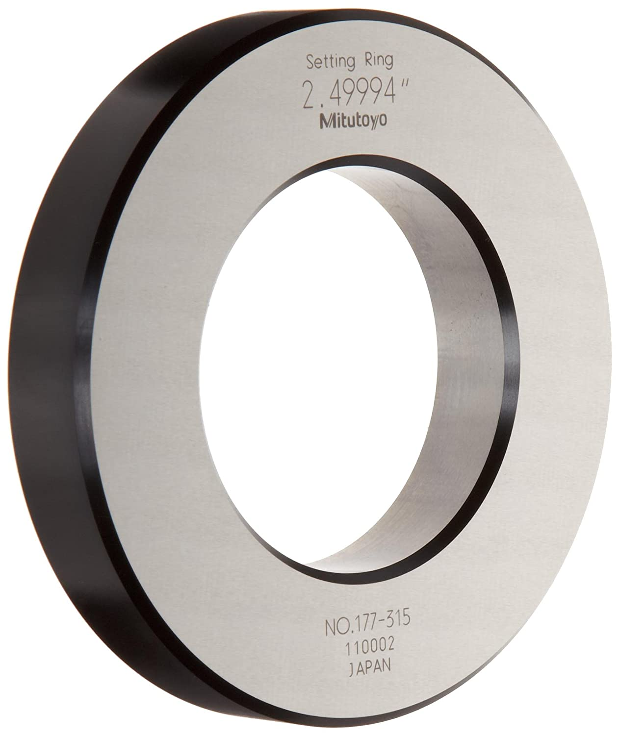 Mitutoyo 177-315 Setting Ring, 2.5' Size, 0.79' Width, 4.41' Outside Diameter, +/-0.00006' Accuracy 2.5 Size 0.79 Width 4.41 Outside Diameter +/-0.00006 Accuracy