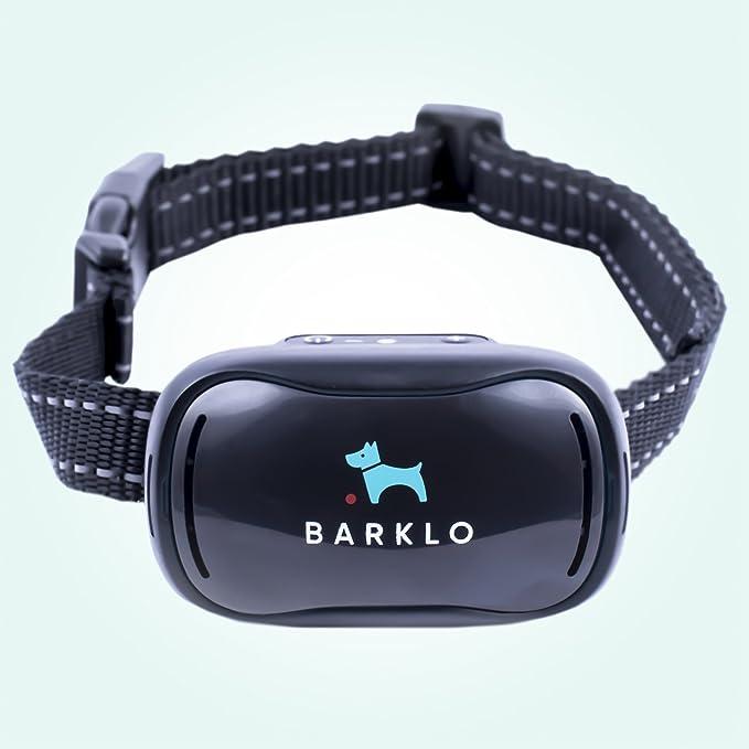 Barklo Pequeño Collar Anti ladridos para Perros Descargas Recargable 12-49cm y Resistente al Agua Sistema de Disuasión de Ladridos por Vibración para Perros ...