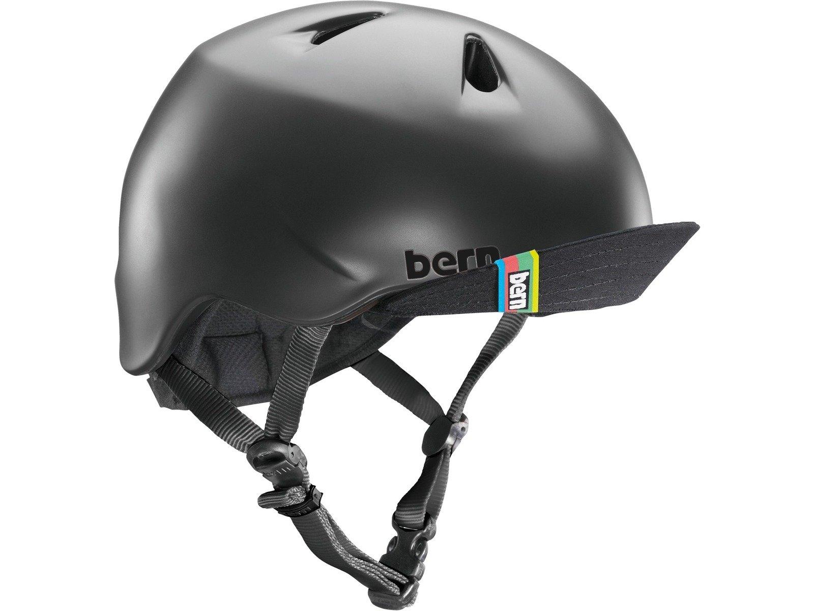 Bern - Kid's Nino Helmet, Matte Black w/Flip Visor, XS/S