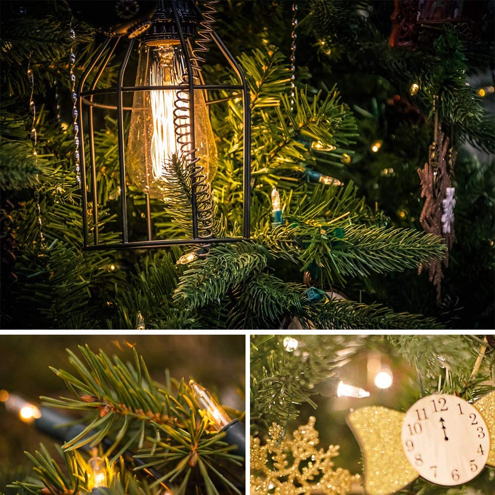 Wedding Soft White 25ft 100 LED Christmas String Lights Patio Indoor Fairy Lights Christmas Tree Garden Party Holiday End-to-End Plug Christmas Lights UL Certified