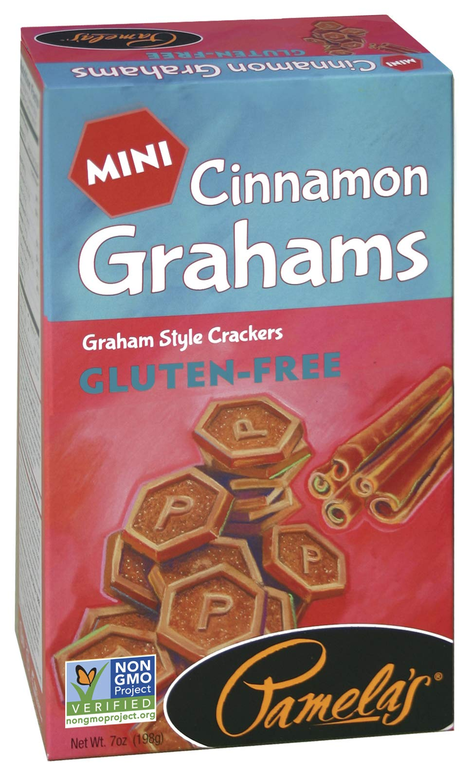 Pamela's Products Gluten Free Graham Crackers, Cinnamon Minis, 7 Ounce (Pack of 6)