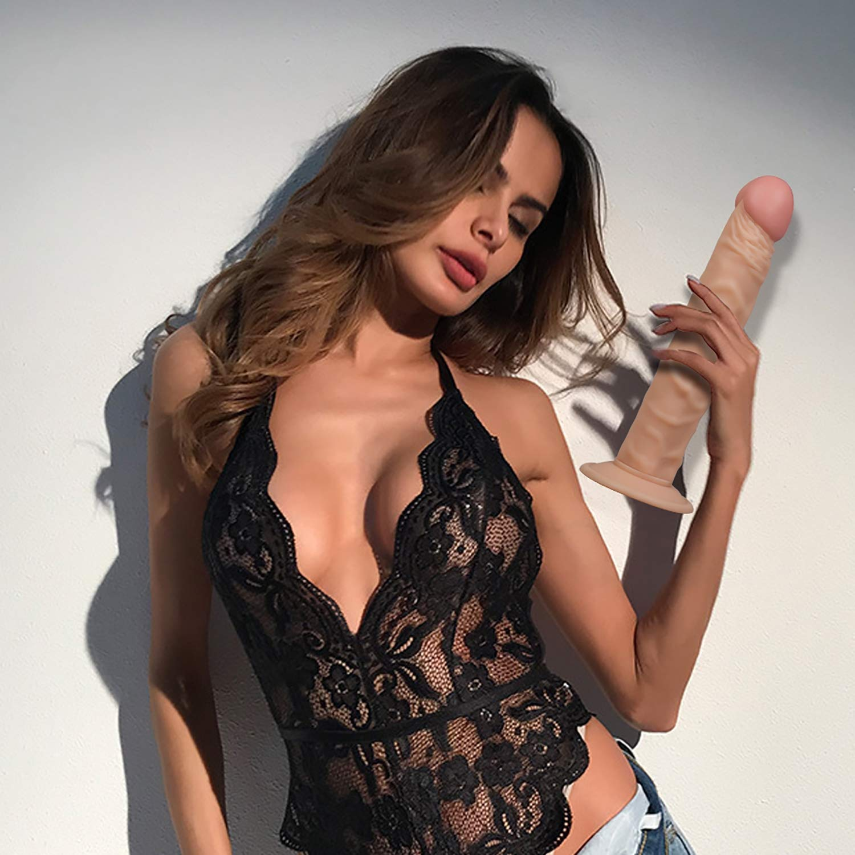 TYXHZL Consoladores de Silicona con Ventosa más Fuerte, Juguetes Adultos Mujeres para Mujeres Adultos Sexo Premium Cock Juegos de Juguetes sexuales Anal para masturbación 4b2b68