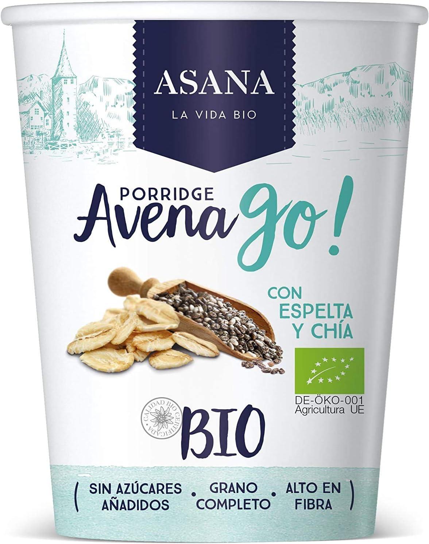 Porridge Ecológico de Avena con Espelta y Chía. Sin Azúcar Añadido ...