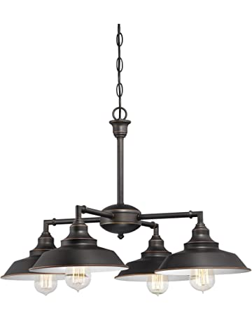 b30ad2db8 Westinghouse Lighting 6343300 Iron Hill Four-Light Indoor Convertible  Chandelier/Semi-Flush Ceiling