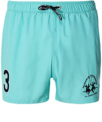ae9c065ae8 La Martina Men's Michael Swim Shorts Light Blue L   Amazon.com