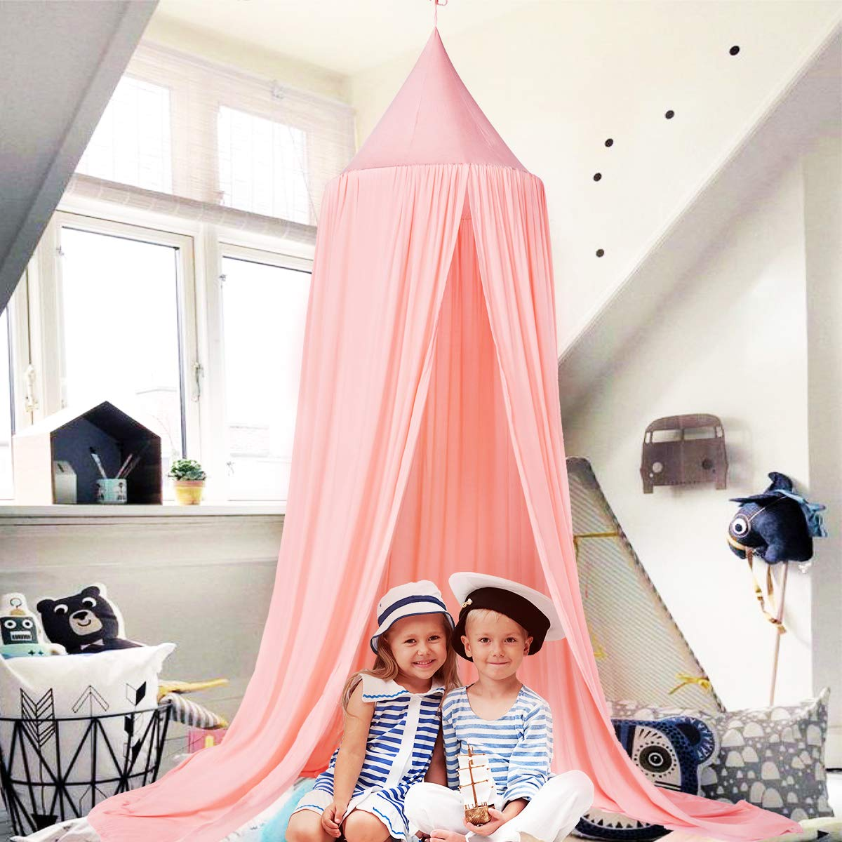 Cotton Dome Princess Bed Canopy for Baby Crib Nook Castle Game Tent Nursery Play Room Decor Princess Bed Canopy for Kids Baby Bed