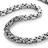 Stainless Steel Mechanic Style Mens Necklace Silver Chain