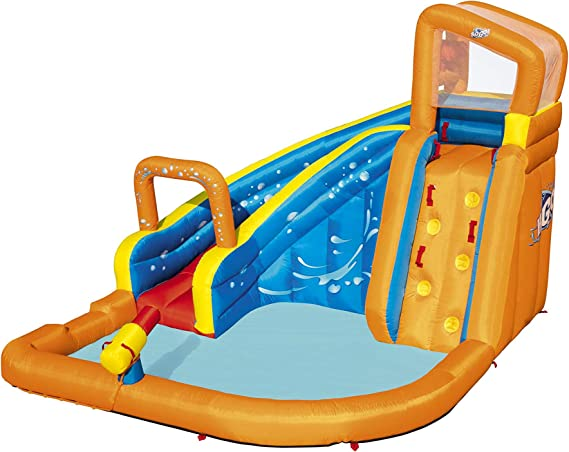 Bestway 53301 - Castillo Hinchable Acuático Turbo Splash Water Zone Mega Parque 365x320x270 cm: Amazon.es: Juguetes y juegos
