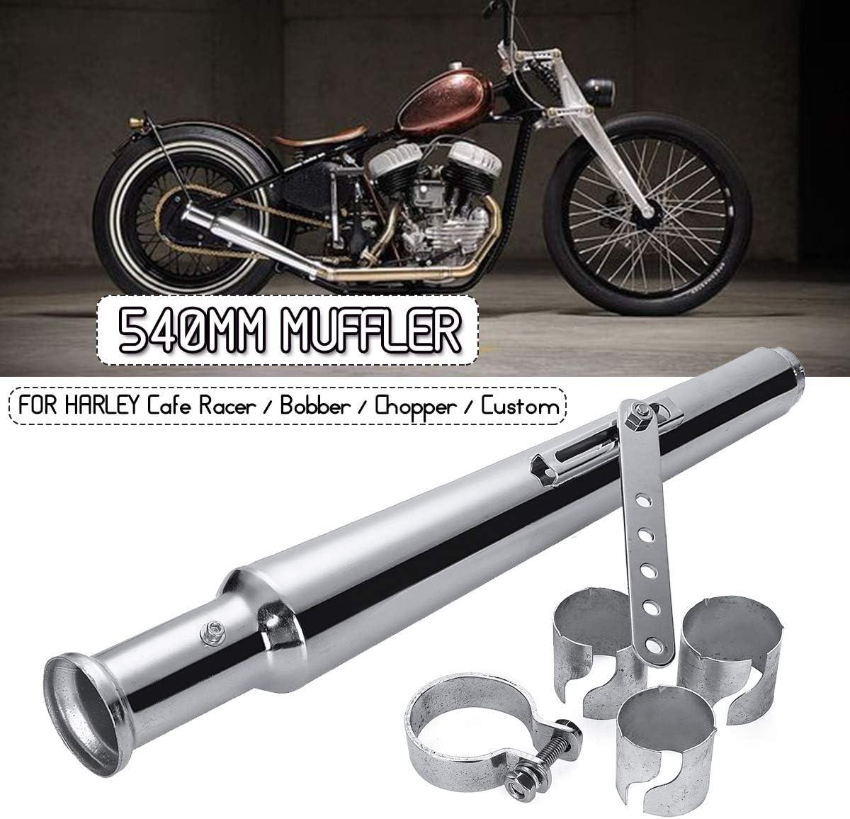 Powersports Teile 540mm Motorrad Retro Endstück Auspuff Schalldämpfer Schalldämpfer For Harley Cafe Racer For Bobber For Chopper For Custom Auto
