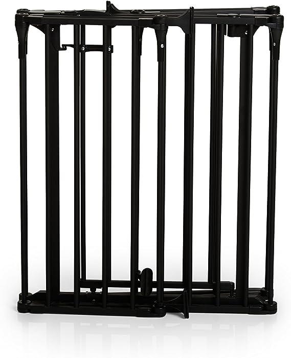 Grille de Protection de Chemin/ée Firplace Guard XL chiens et chats longueur 2,67 m et hauteur 75 cm noir gris anthracite pour enfants avec porte materiel de fixation inclus en m/étal recouvert Hauck