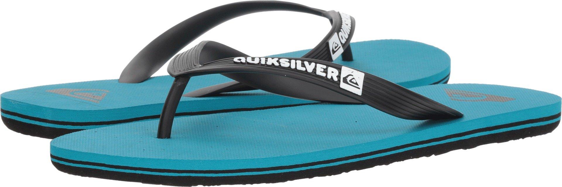 Quiksilver Men's Molokai Sandal, Black/Blue/Blue, 9 M US by Quiksilver