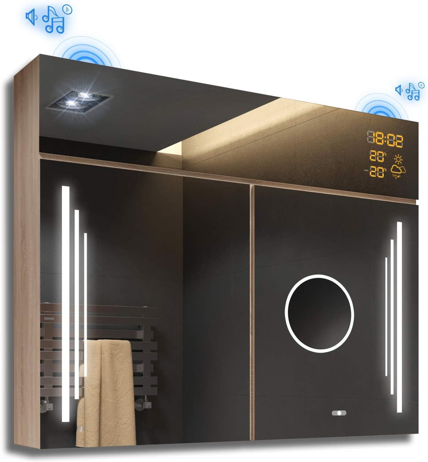 Artforma Spiegelschrank Mit Led Beleuchtung Anpassen 66 X 72 X 17
