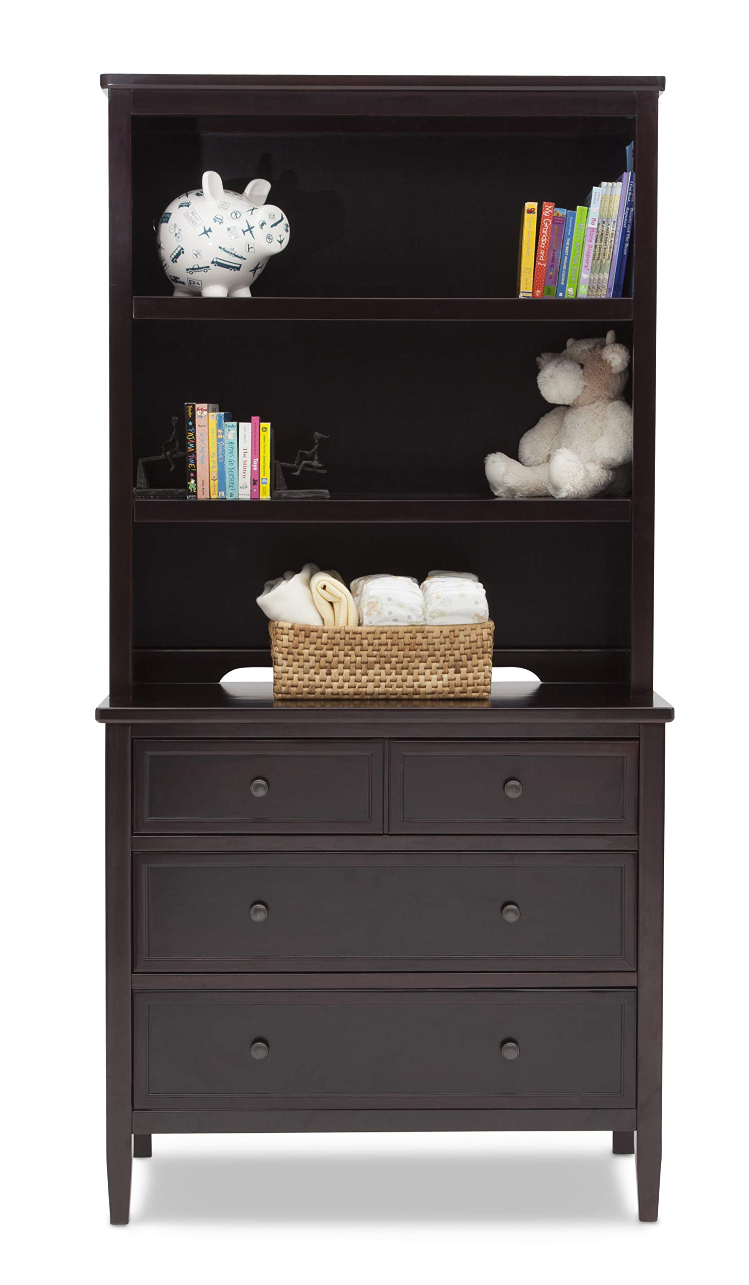 Delta Children Emery 3 Drawer Dresser with Changing Top (Dark Chocolate (303))