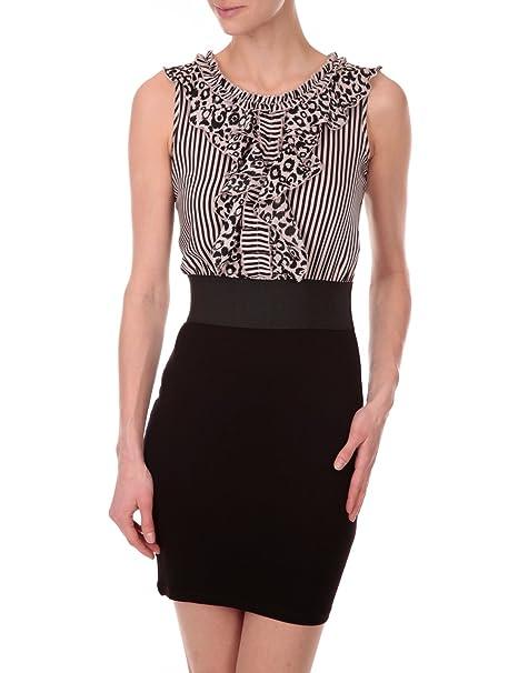 Morgan - Vestido para mujer, talla 34, color Rosa/Negro