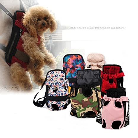 shanzhizui Patas delanteras para perros Mochila para perros, Mochila ajustable para mascotas con soporte para