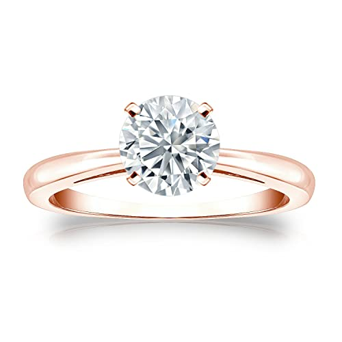 14k Gold Round-cut Diamond Solitaire Ring (1/3 cttw, H-I Color, I1-I2 Clarity) Size 4-9