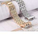 YJYdada Luxury Crystal Stainless Steel Metal