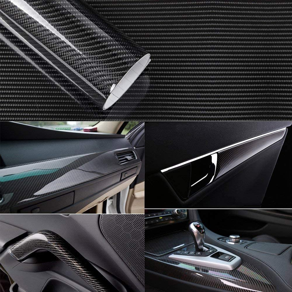 12,94€//m²  3D Carbon Folie silber blasenfrei 30 x 152cm Klebefolie Carbon Optik