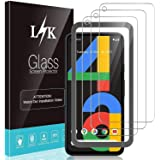 [3 Pack] LϟK Screen Protector for Google Pixel 4a, [Frame-Installation]Tempered Glass HD clear Scratch-resistant, Bubble…